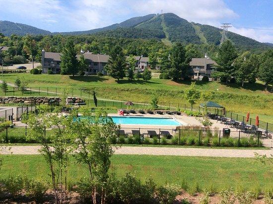 Jay Peak Resort: View from balcony