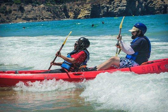 Bike and Kayak - La Jolla: Coming back into the beach.
