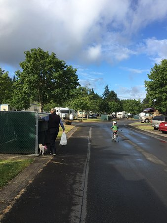 Kelso, Etat de Washington : Grandkids welcome