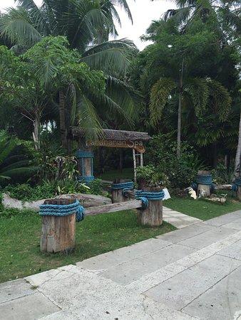 Dos Palmas Island Resort & Spa: ドスパルマスへ1日だけの日帰りツアー。 天気は曇り。