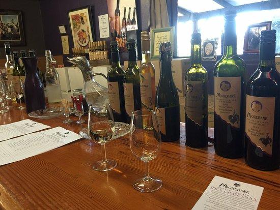 Moorebank Vineyard: tasting wine