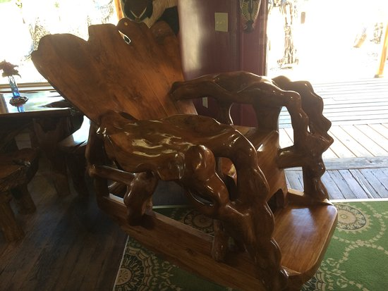 Bethlehem, NH: Cool Rocking Chair