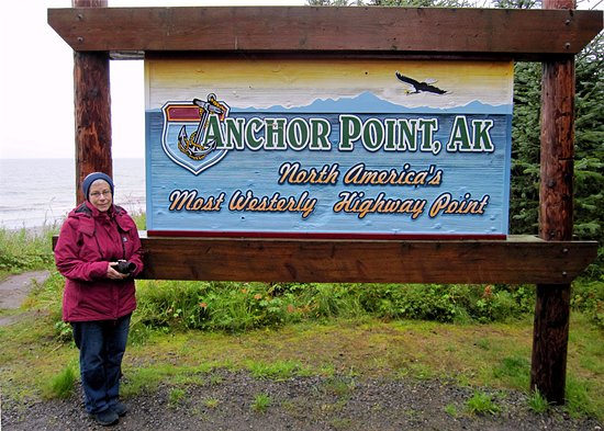 Anchor Point, AK: the sign many people come to see