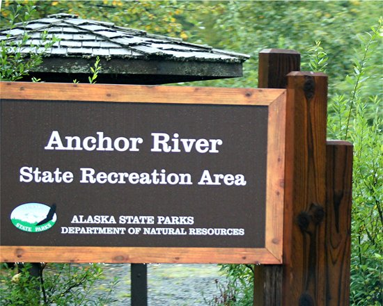 Anchor Point, AK: the sign at the site