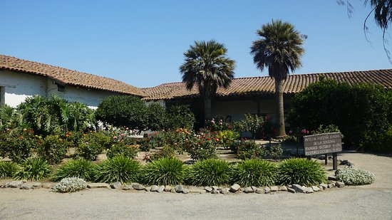Soledad, CA: Front of the mission with Garden