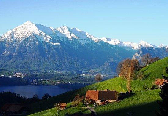 Heiligenschwendi, Schweiz: Ausblick vom Hotel