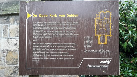 Old Blasius: sign explaing about the building and its origins (only in Dutch), the 1100s.