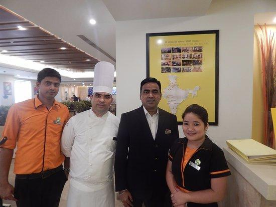 With Swaraj Sindi Chef And Pankaj Picture Of Lemon Tree Premier