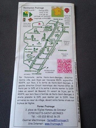 Ferme Fruirouge : Plan d'accès, adresse, mail, numéro téléphone