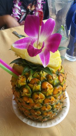 Mango smoothy in Pineapple, Delicious.