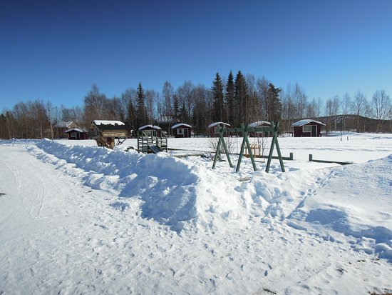 Ivalo, Finland: Winter scenery in Naveniemi Holiday Center