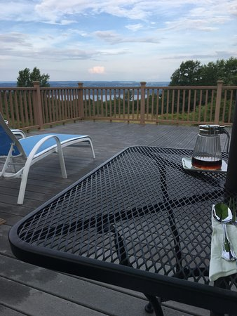 Lodi, NY: View from breakfast on the deck