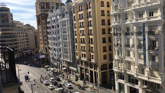 Regente Hotel: Camera doppia vista gran vía