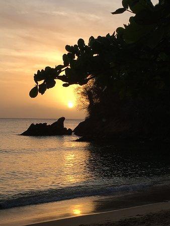 Castara, Tobago: Sunset from our balcony
