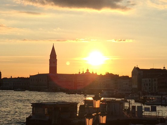 Hotel Bucintoro: This is the view from room 101 at sunset.