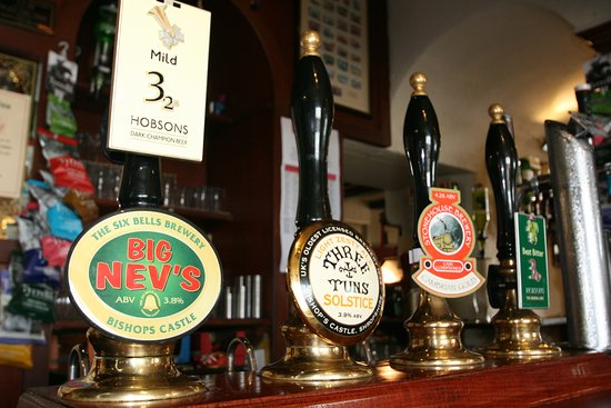 Bishops Castle, UK: Local Real Ales