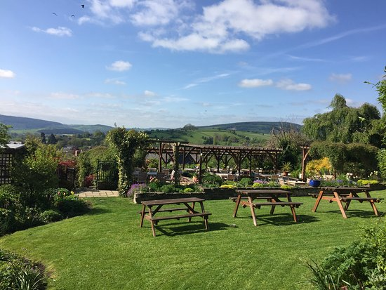 Bishops Castle, UK: Garden & View