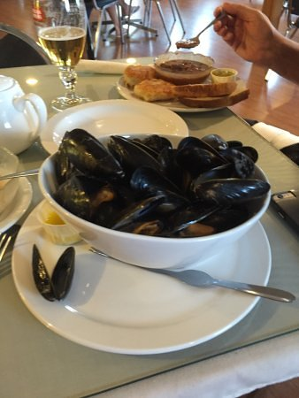 Boularderie, Canadá: Fresh mussels