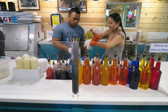 Shaved ice in oahu just