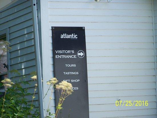 Atlantic Brewing Company: tour tasting etc sign