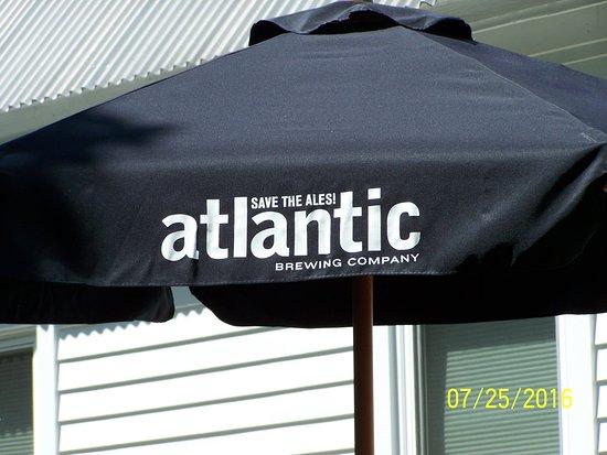 Atlantic Brewing Company: out side umbrella