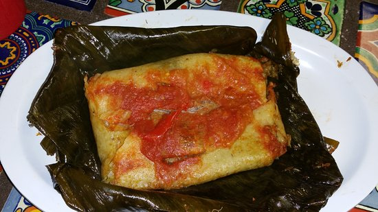 เกรตเนค, นิวยอร์ก: Tamal Guatemalteco. Delicious. Wrapped in a banana leaf. Obviously homemade.