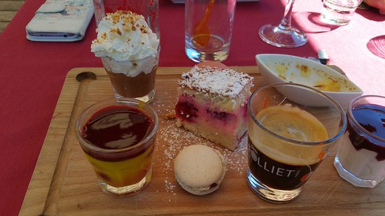 Ceillac, France : café gourmand