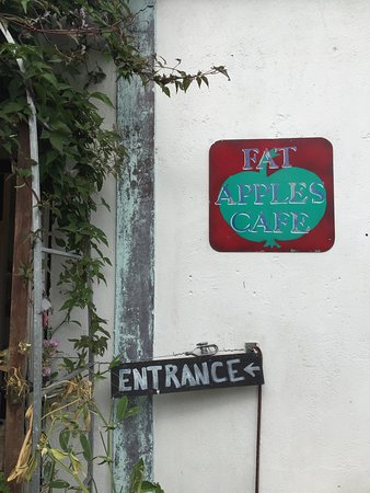 St Keverne, UK: After a longer than expected walk from Gillan Cove to Porthallow finding Fat Apples Cafe was   I