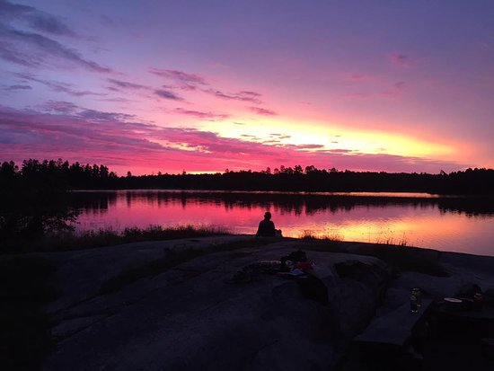 Ely, MN: sunrise on Nina Moose Lake