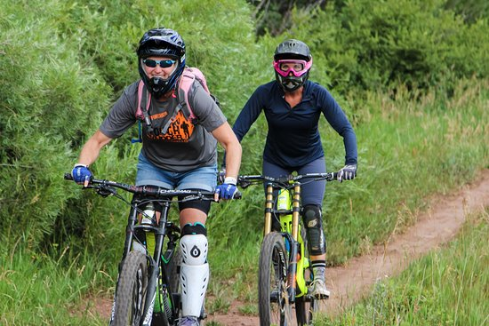 Angel Fire, NM: Mom and friend Beth bike from our ride down. #thisisforty