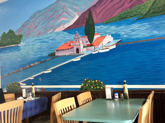Palm Harbor, Floryda: Mural and dining area
