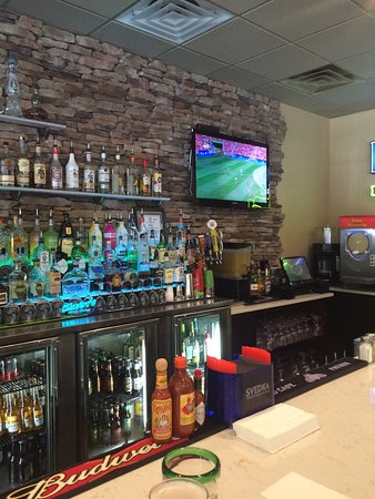 Cilantro's Grill and Cantina: The bar area at the Wilmington Island restaurant.