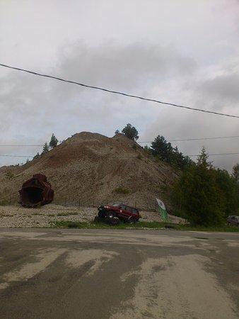 Ida-Viru County, Estland: терриконы-известняк, который вручную!!! отсортировали от горючего сланца