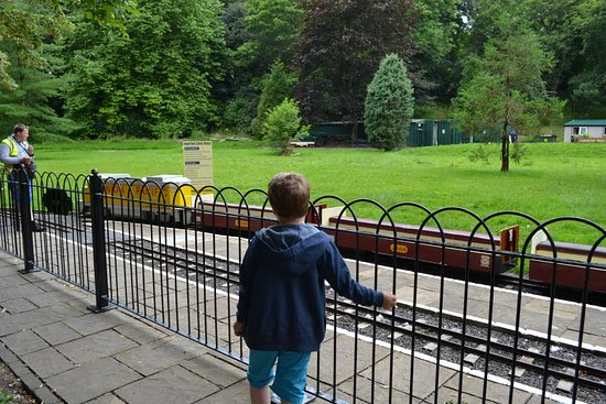 Burnley, UK: Thompson Park Railway ready to go