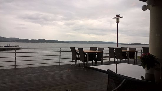 Holmestrand, Norway: view of fjord from table