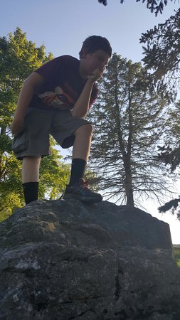 Danville, PA: My younger brother's 13th birthday was spent at the Lake. Look at him trying to be cool.