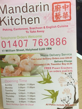 Mandarin Kitchen, Holyhead - Restaurant