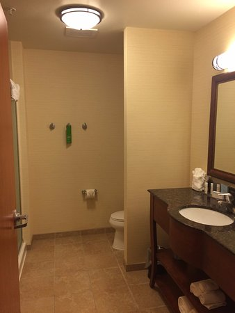 Hampton Inn Rock Springs: Very spacious bathroom