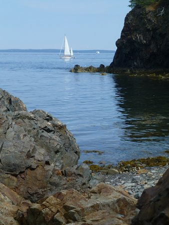 Owls Head, ME: The shore area below the lighthouse