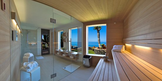 Jardin de la Paz: Sauna with sea view