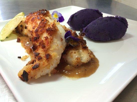 Restaurant Le Grain de Sable: un filet de sole bien épais pané à l'amande