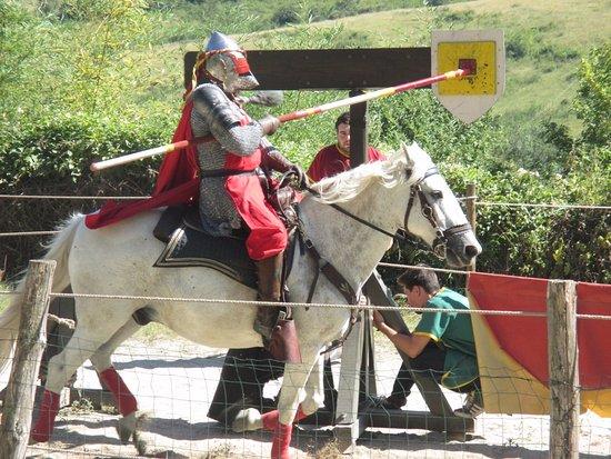 Chalabre, Prancis: démonstration à cheval