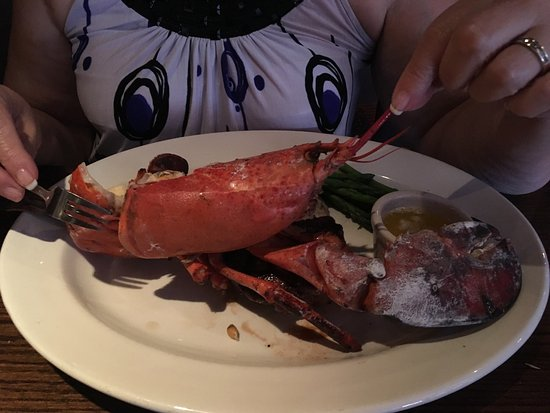 Cambridge Keg Steakhouse Bar: The Keg with Prime Rib and lobster.