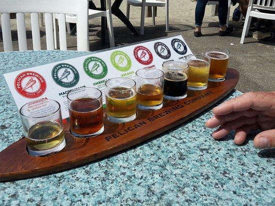 Pacific City, OR: Flight of beers!