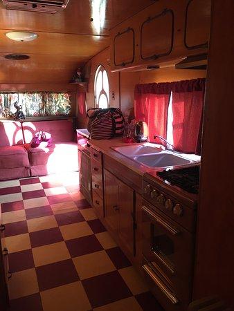 Shady Dell RV Park: kitchen of 1957 airfloat