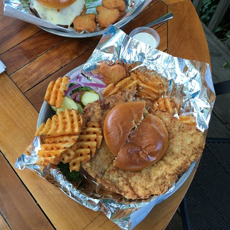 Anamosa, IA: Jackhammer Tenderloin with Waffle Fries and Ranch Dip
