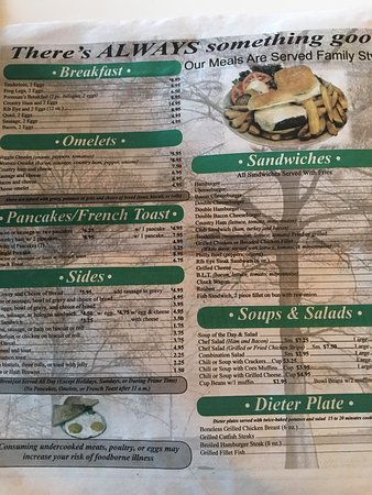Tiptonville, TN: Menu
