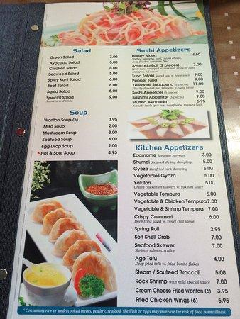 Misu Sushi Asian: Menu!