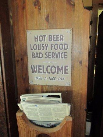 17 Mile House: Signage