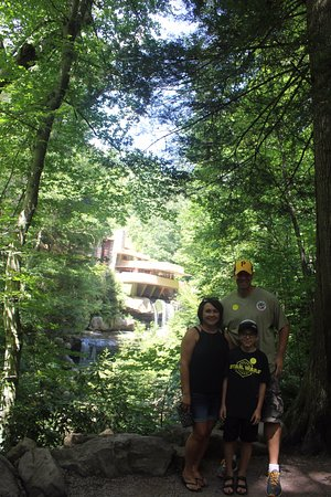 Fallingwater: Me and my wife and son